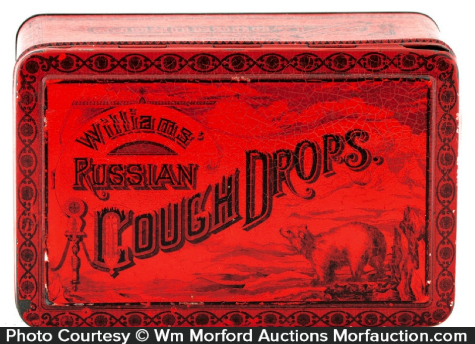 Williams Cough Drops Tin