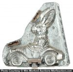 Driving Rabbit Chocolate Mold