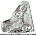 Driving Rabbit Chocolate Mold