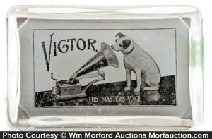 Victor Phonograph Paperweight