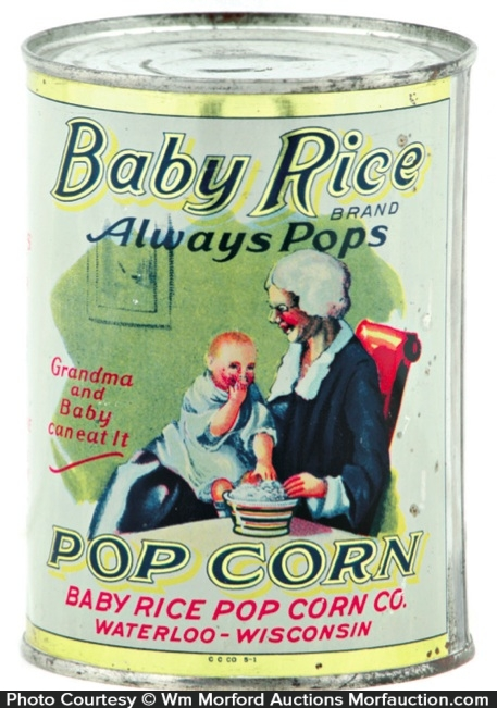 Baby Rice Pop Corn Tin