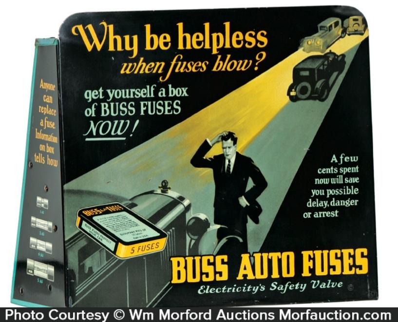 Buss Auto Fuses Display