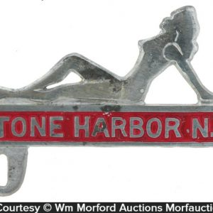 Stone Harbor Motorcycle License Plate Topper