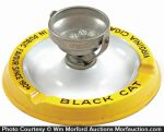 Black Cat Gambling Ashtray
