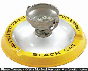 Black Cat Gambling Ashtray