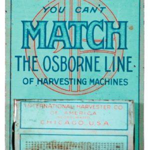 Osborne Harvesting Machine Match Holder