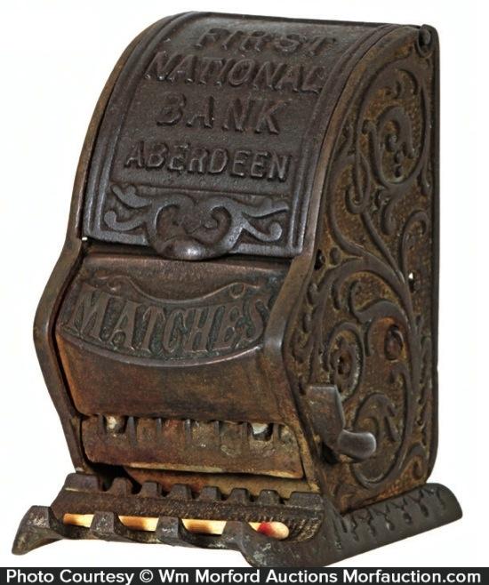 First National Bank Match Dispenser