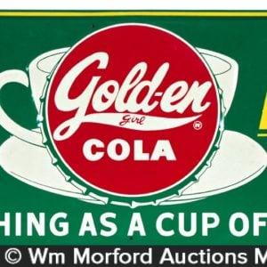 Golden Girl Soda Sign