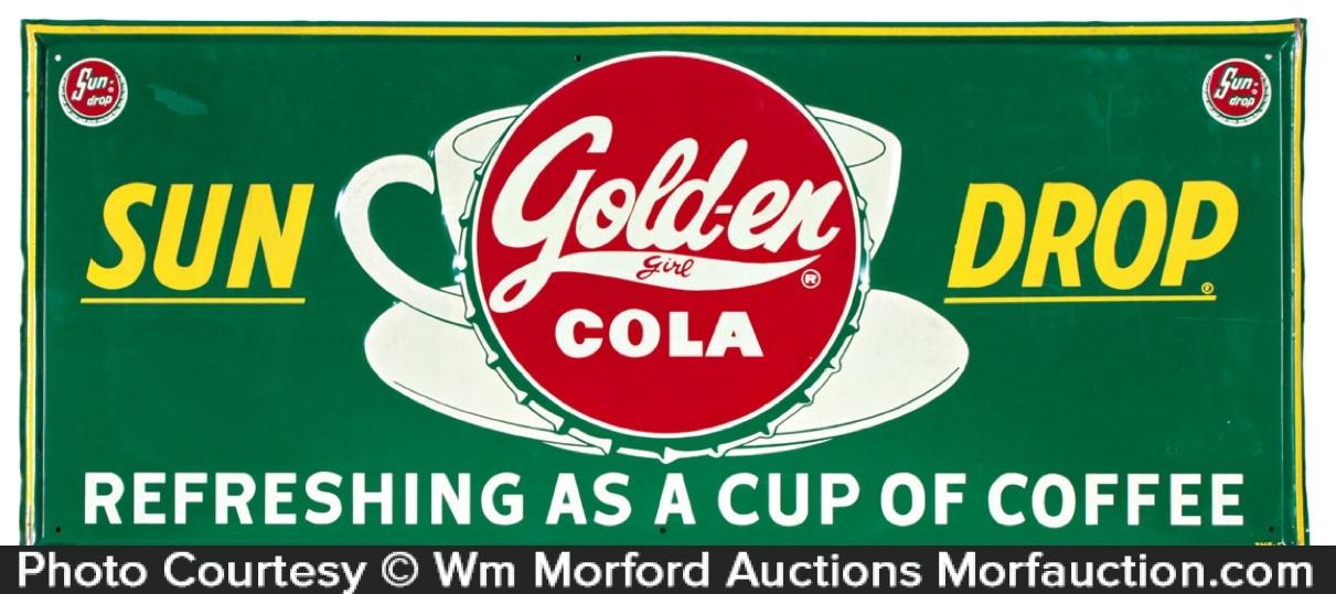 Golden Girl Soda Sign