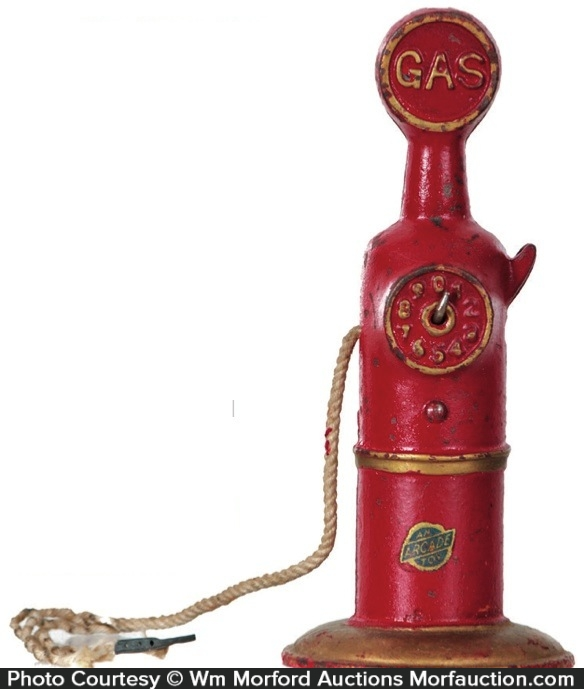 Cast Iron Gas Pump Toy