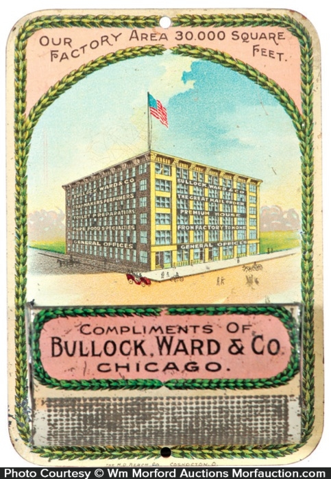 Bullock, Ward & Co. Match Holder