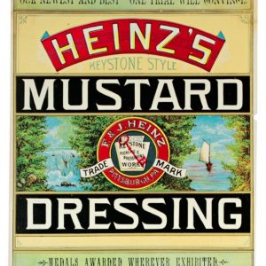 Heinz Mustard Dressing Label