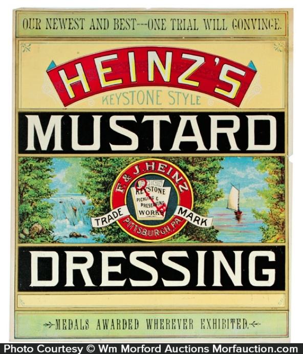 Heinz Mustard Dressing Label