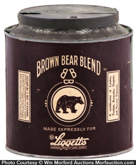 Brown Bear Tobacco Tin