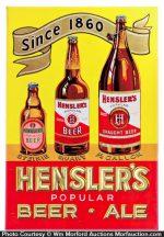 Hensler's Beer Sign