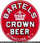 Bartels Porcelain Crown Beer Sign