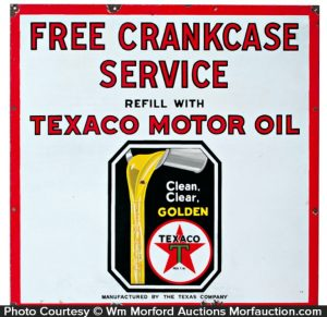 Texaco Motor Oil Sign