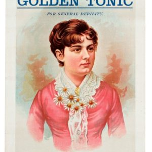 Golden Tonic Medicine Sign