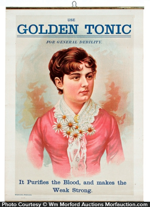 Golden Tonic Medicine Sign