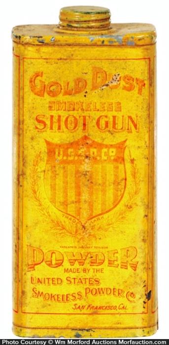 Gold Dust Shotgun Powder Tin