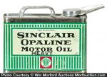 Sinclair Opaline Motor Oil Can