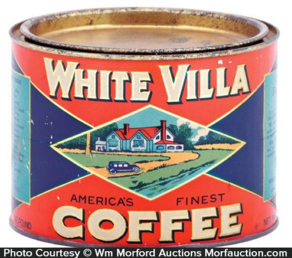 White Villa Coffee Can