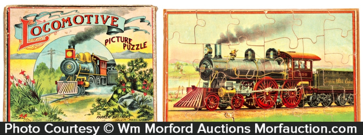 Parker Brothers Locomotive Puzzle