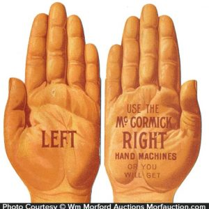 Mccormick Hand Trade Card