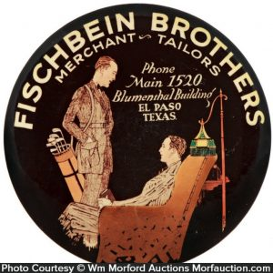 Fischbein Brothers Tailors Paperweight Mirror