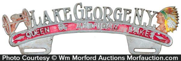Lake George License Plate Topper