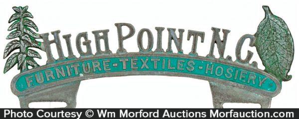 High Point North Carolina Plate Topper
