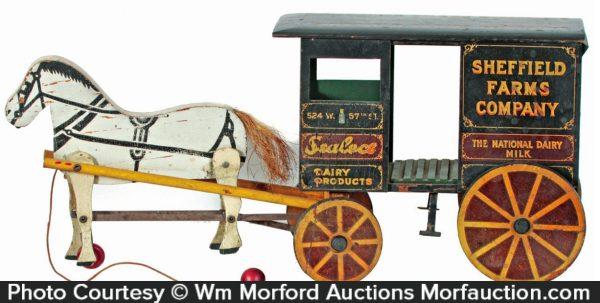 Sheffield Farm Dairy Horse Wagon Toy