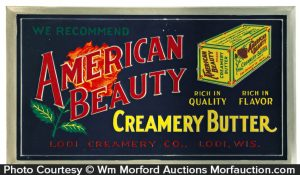 American Beauty Butter Sign