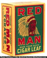 Red Man Tobacco Box