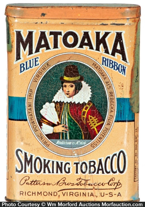 Matoaka Smoking Tobacco Tin