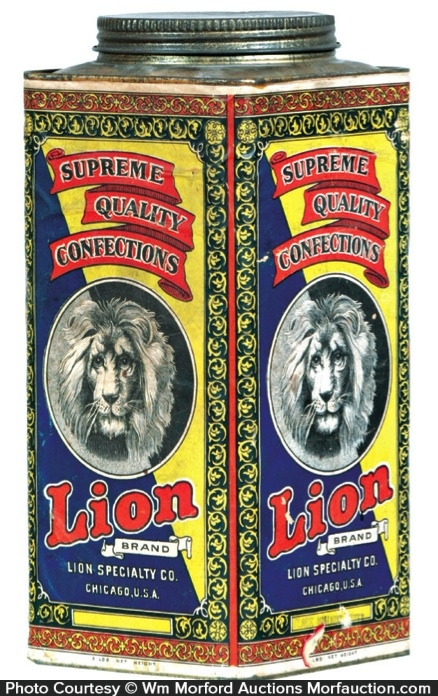 Lion Candy Tin