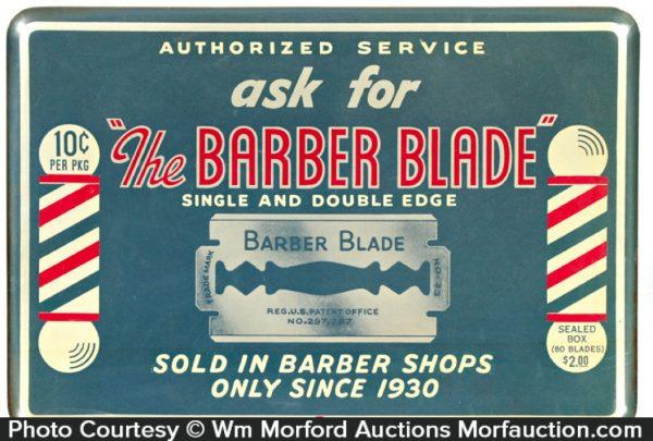 Barber Blade Sign