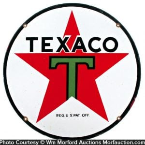 Texaco Porcelain Sign