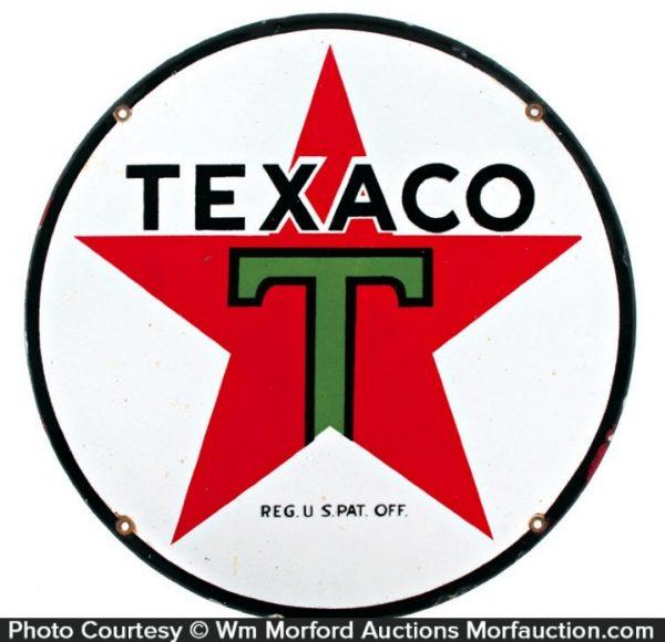 Texaco Porcelain Sign