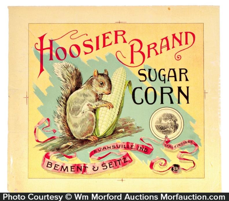 Hoosier Sugar Corn Label