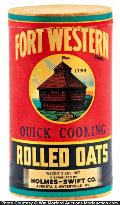 Fort Western Oats Box