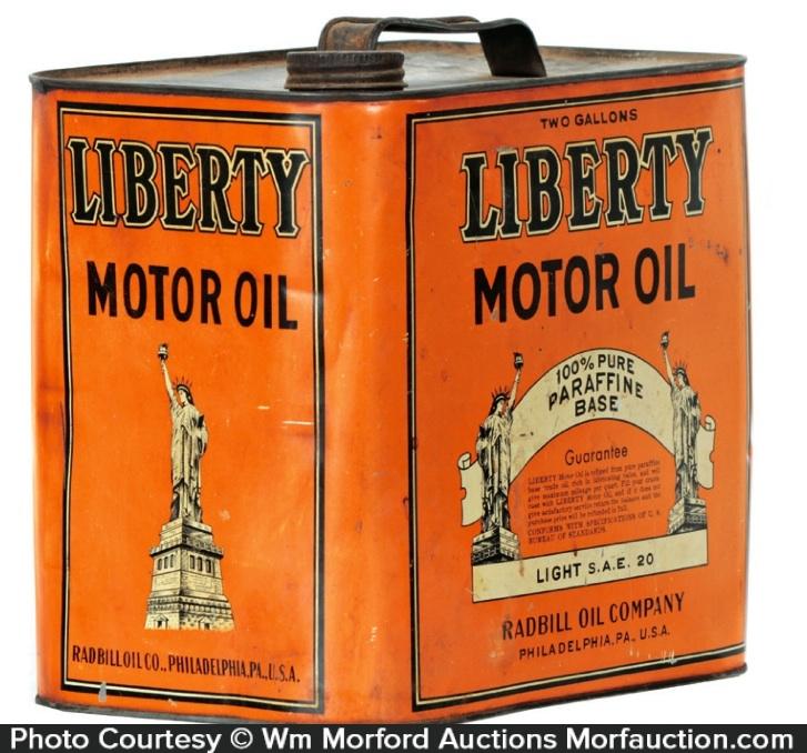 Liberty Motor Oil Can