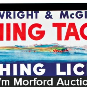 Wright & Mcgill Fishing Tackle Sign