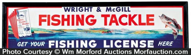 Wright & Mcgill Fishing Tackle Sign