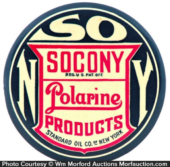 Socony Polarine Paperweight Mirror