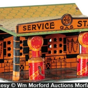 Marx Service Station Tin Toy