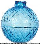 Glass Works Blue Target Ball
