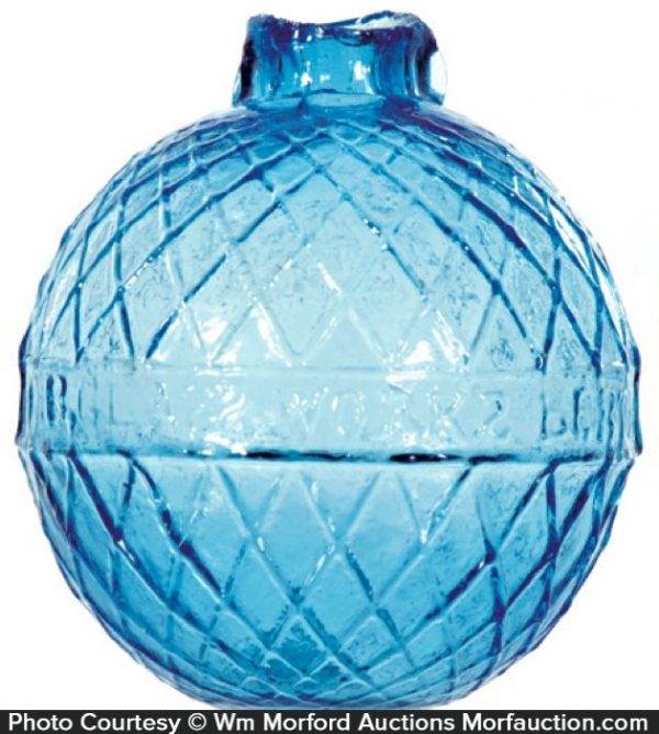 Glass Works Blue Target Ball