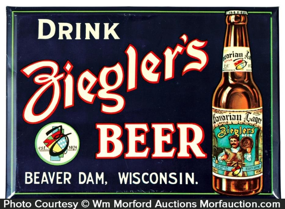 Ziegler's Beer Sign
