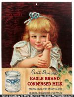 Borden's Eagle Condensed Milk Sign